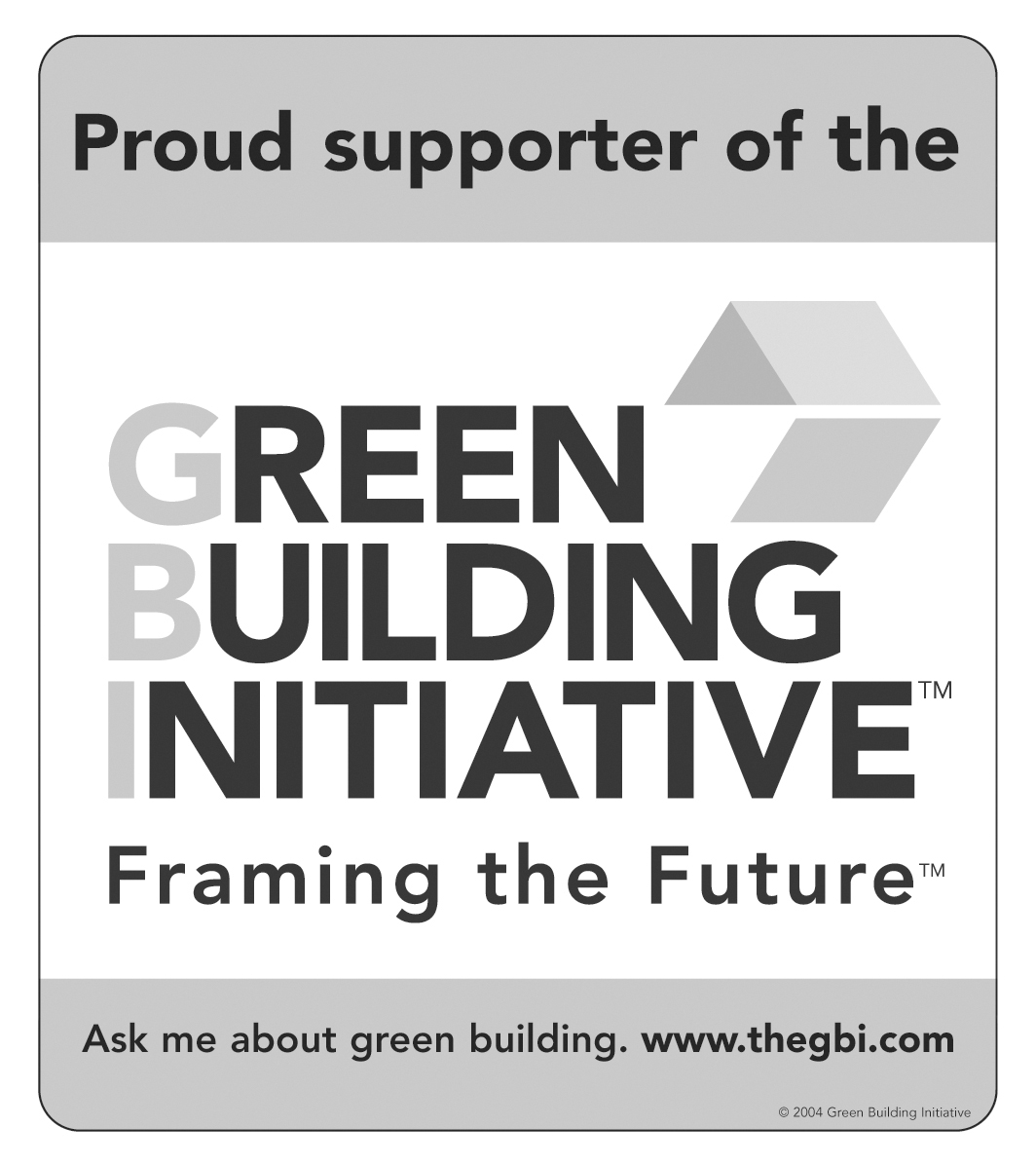 We are a member of The Green Building Initiative -- www.theGBI.com